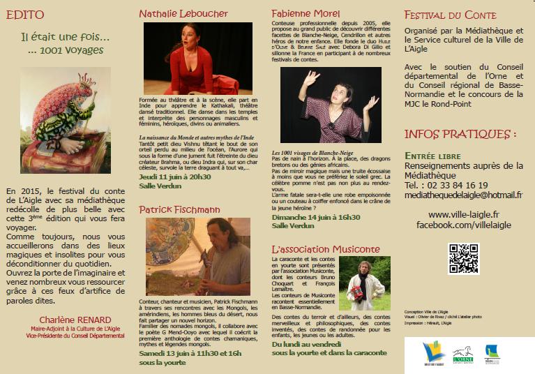 Brochure Festival de contes 2015
